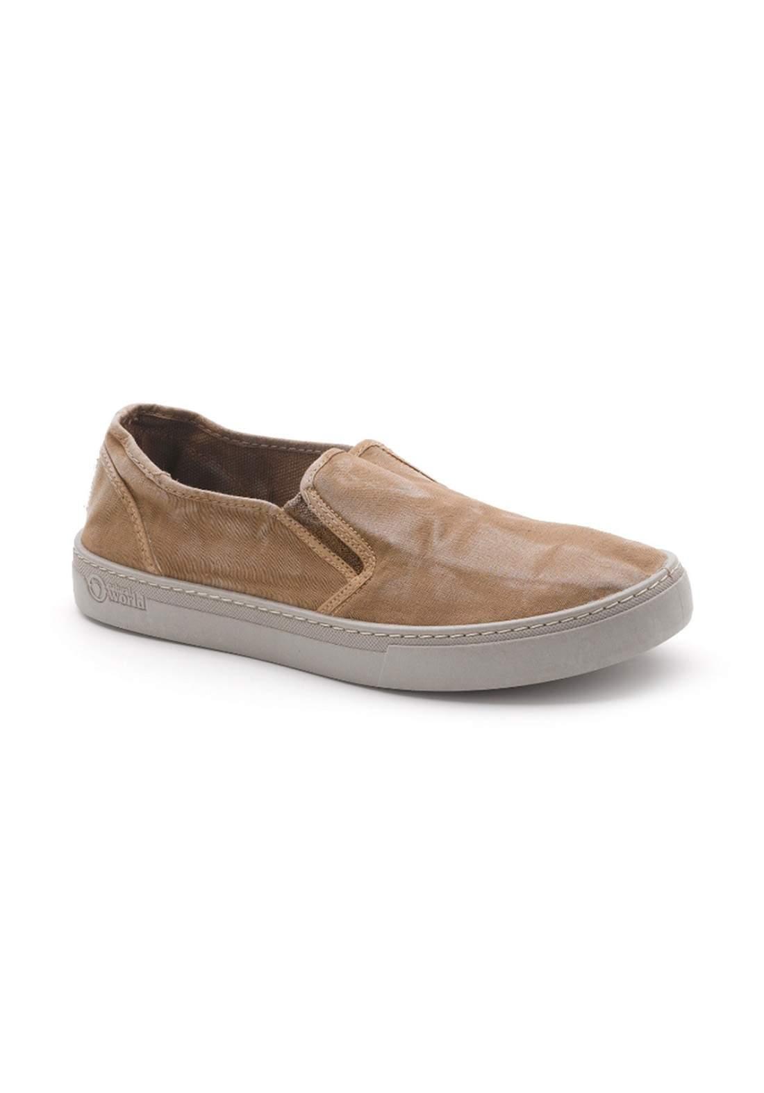 حذاء رجالي بني اللون من Natural World Eco