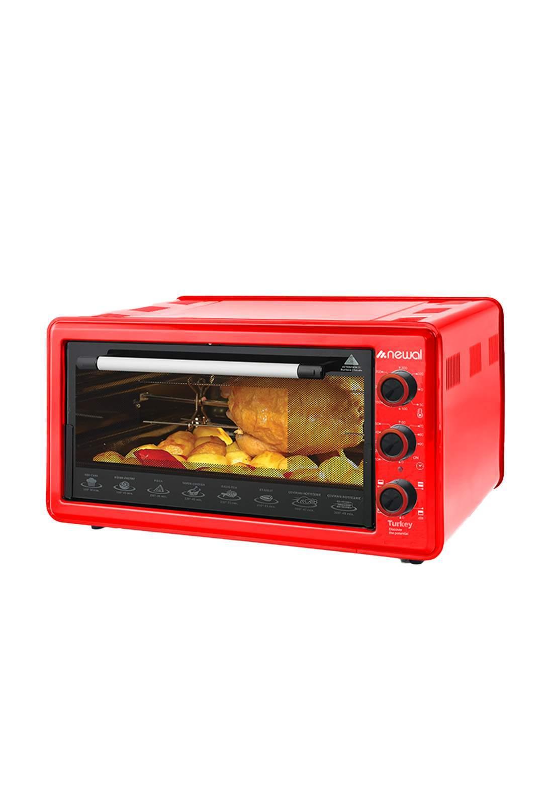 Newal Mini Oven 45L MOV-456-03 - Red فرن كهربائي