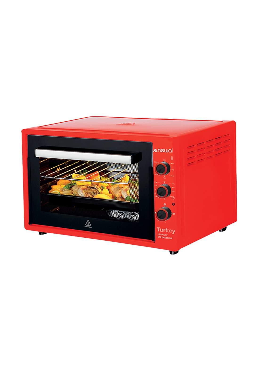 Newal Mini Oven 60L MOV-670-03- Red فرن كهربائي