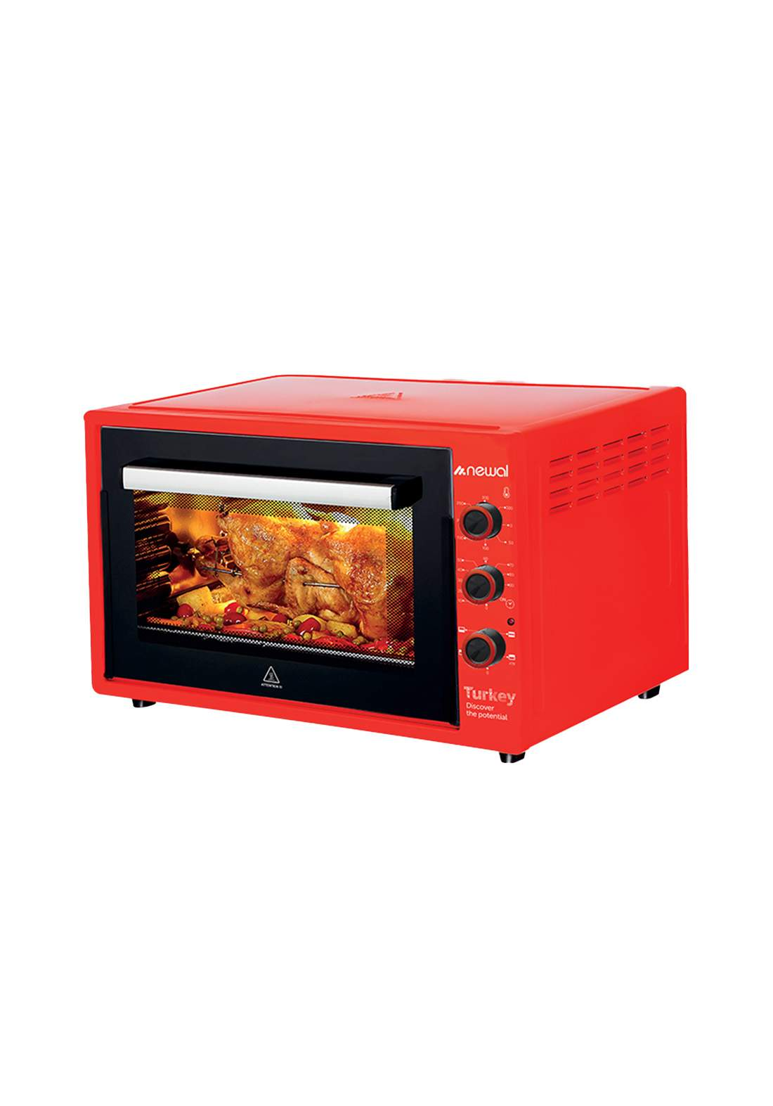 Newal Mini Oven 60L MOV-675-03- Red فرن كهربائي