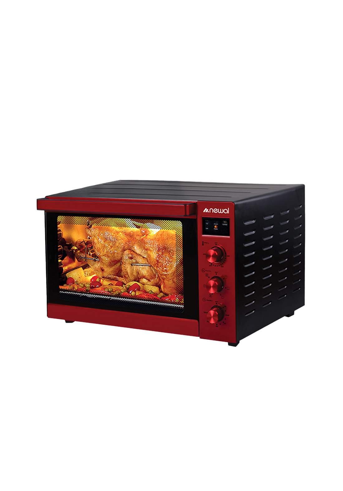 Newal Mini Oven 80L  MOV-875-03 - Red فرن كهربائي