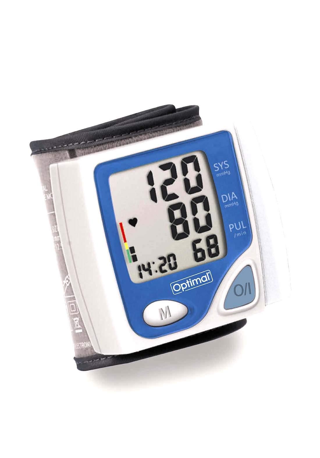 Optimal Wrist Type Digital Blood Pressure Monitor جهاز قياس ضغط الدم الرقمي