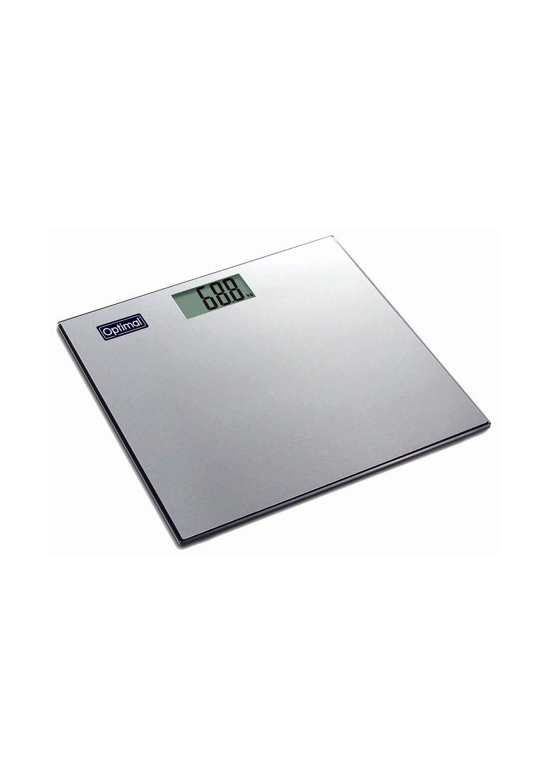 Optimal Ultra Slim Stainless Steel Electronic Scale ميزان الكتروني