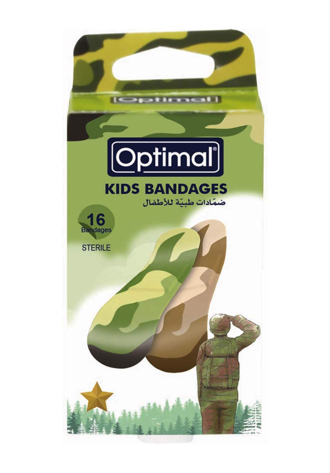 Optimal  Kids bandage-military  لصقات جروح  للأطفال