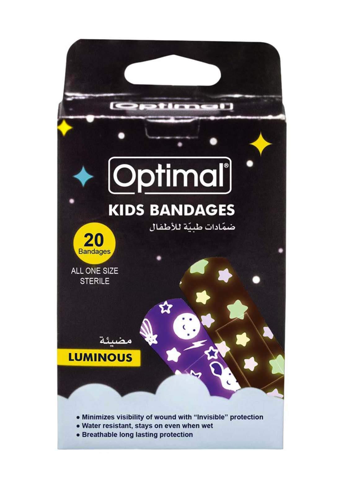 Optimal Luminous Kids Bandages  لصقات جروح مضيئة للأطفال