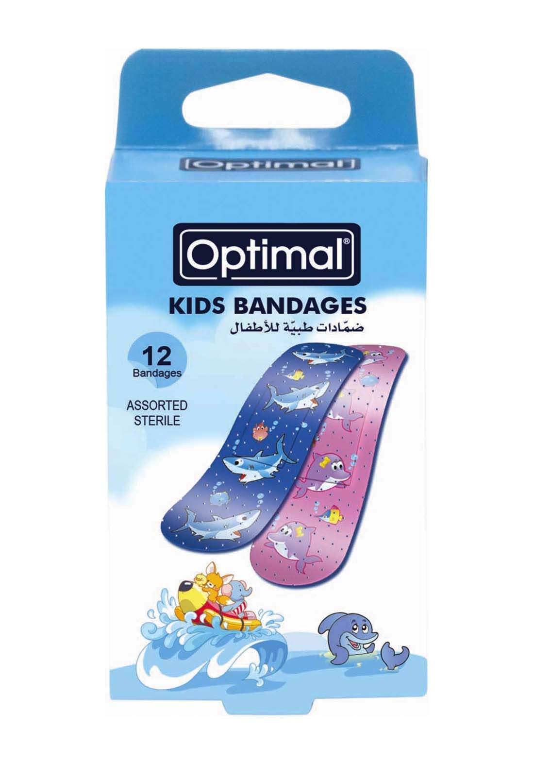 Optimal  Kids bandage-assorted 12pcs beaach  لصقات جروح  للأطفال