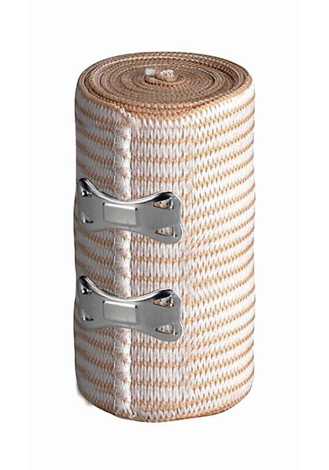 Optimal medical elastic bandages with clips  7.5cm*4.5m  ضمادات طبية مطاطة بمشبك معدني