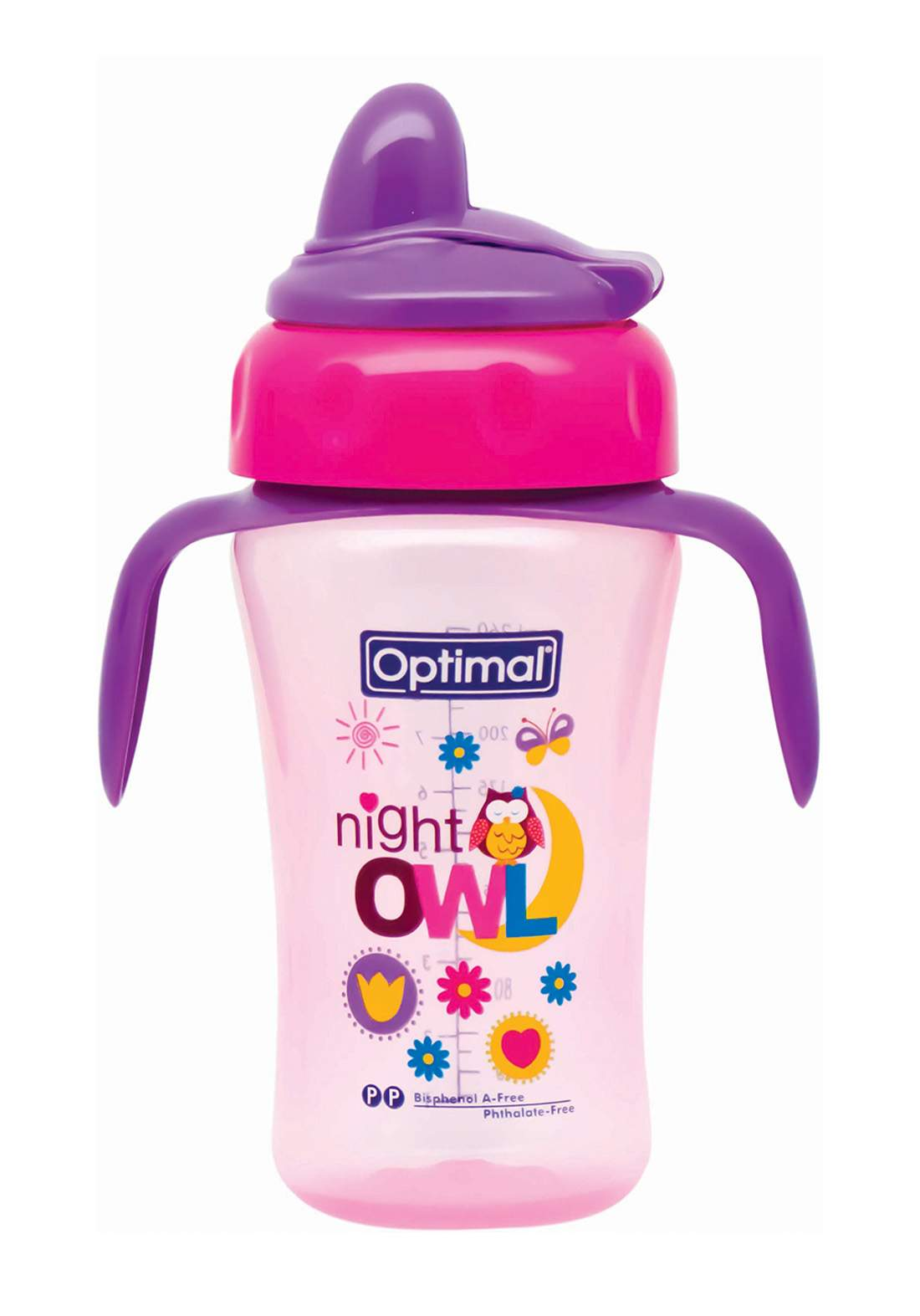 Optimal P. P silicone spout bottle with handle 260 ml كوب للأطفال