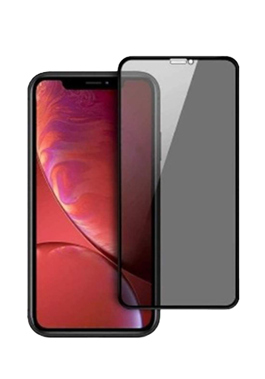 Optiva Privacy Glass Screen Protector For iPhone 11 - Black واقي شاشة