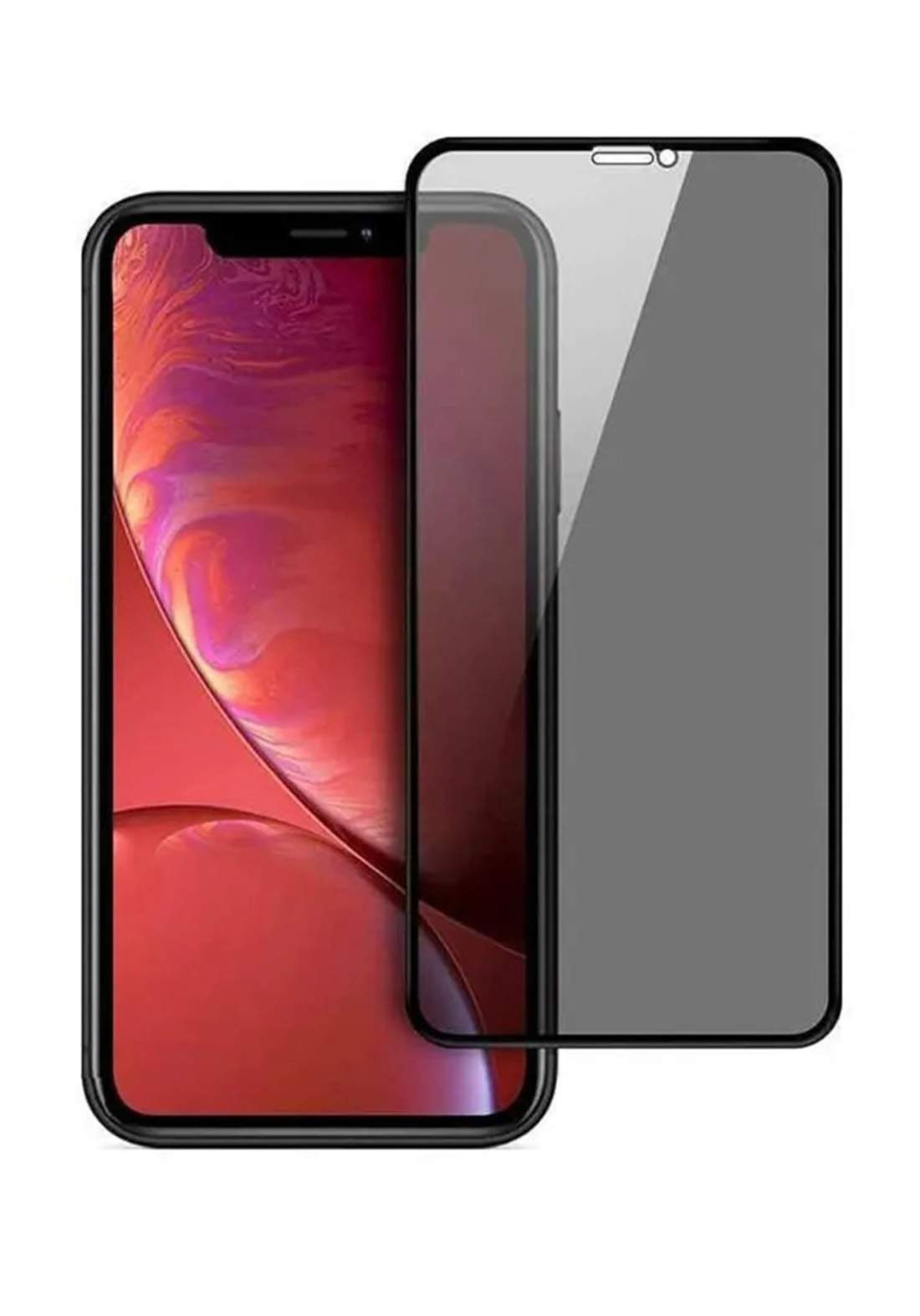 Optiva Glass Screen Protector For iPhone 11 - Black واقي شاشة