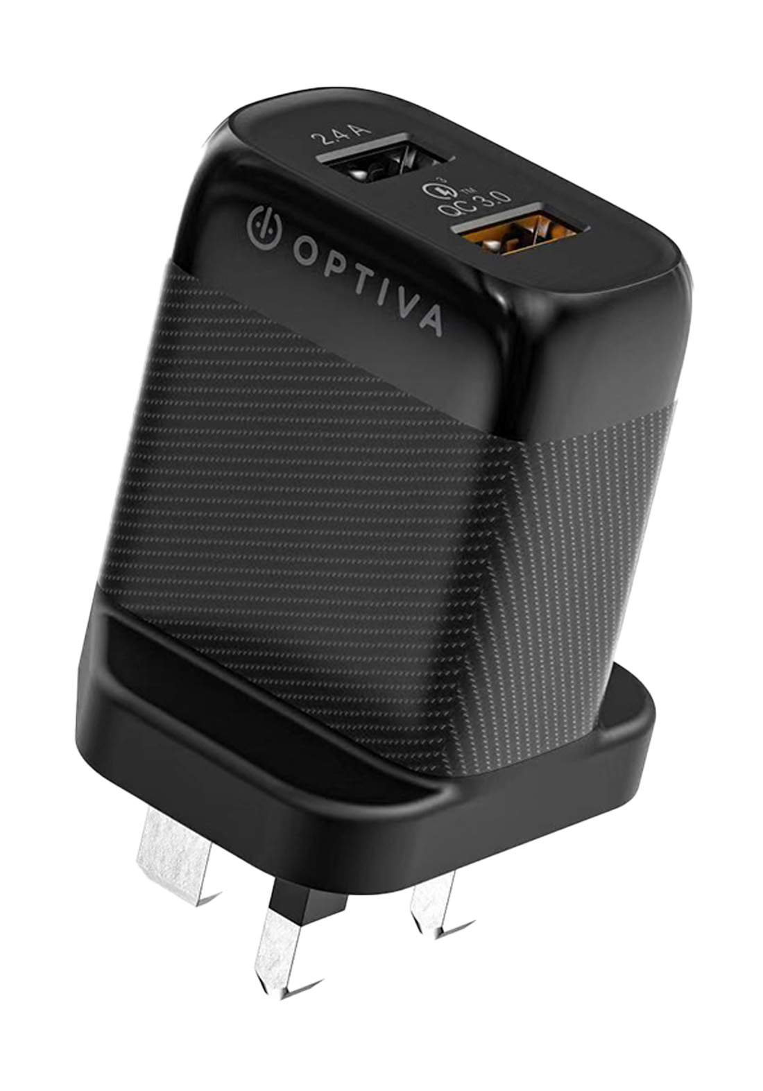 Optiva OPW25 QC3.0 and PD USB Wall Charger 18W - Black شاحن