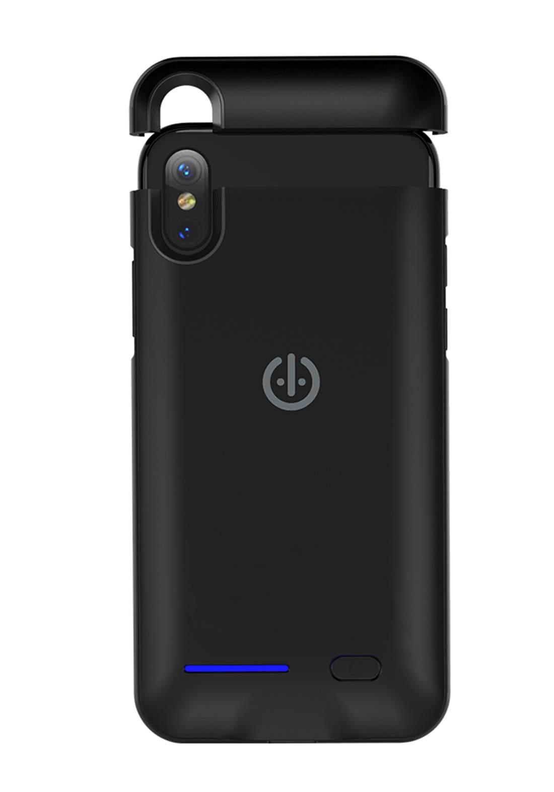 Optiva DX01 Mobile Case Charger For iphone Xand  XS Black شاحن حافظة الموبايل