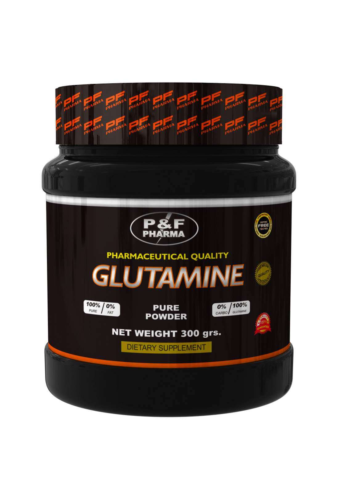P&F Pharma  Glutamine Pure powder- 300gm مكمل غذائي