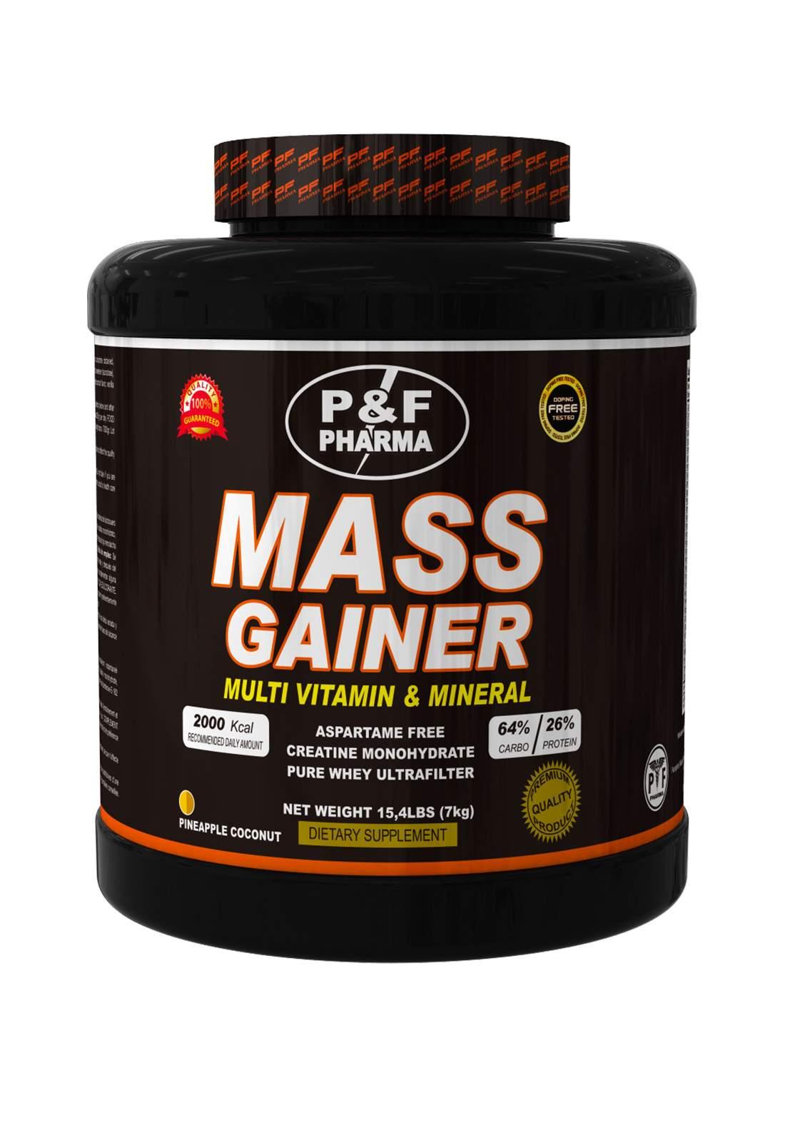P&F Pharma Mass Gainer-3kg مكمل غذائي