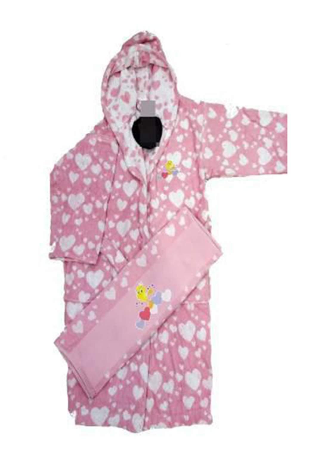 سيت استحمام للاطفال بناتي وردي اللون من ozdlik