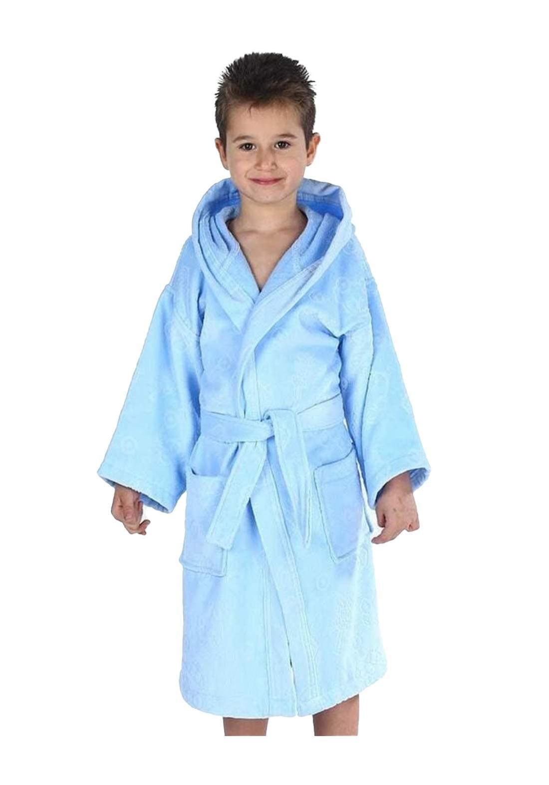 روب استحمام للاطفال ولادي سمائي اللون من ozdlik