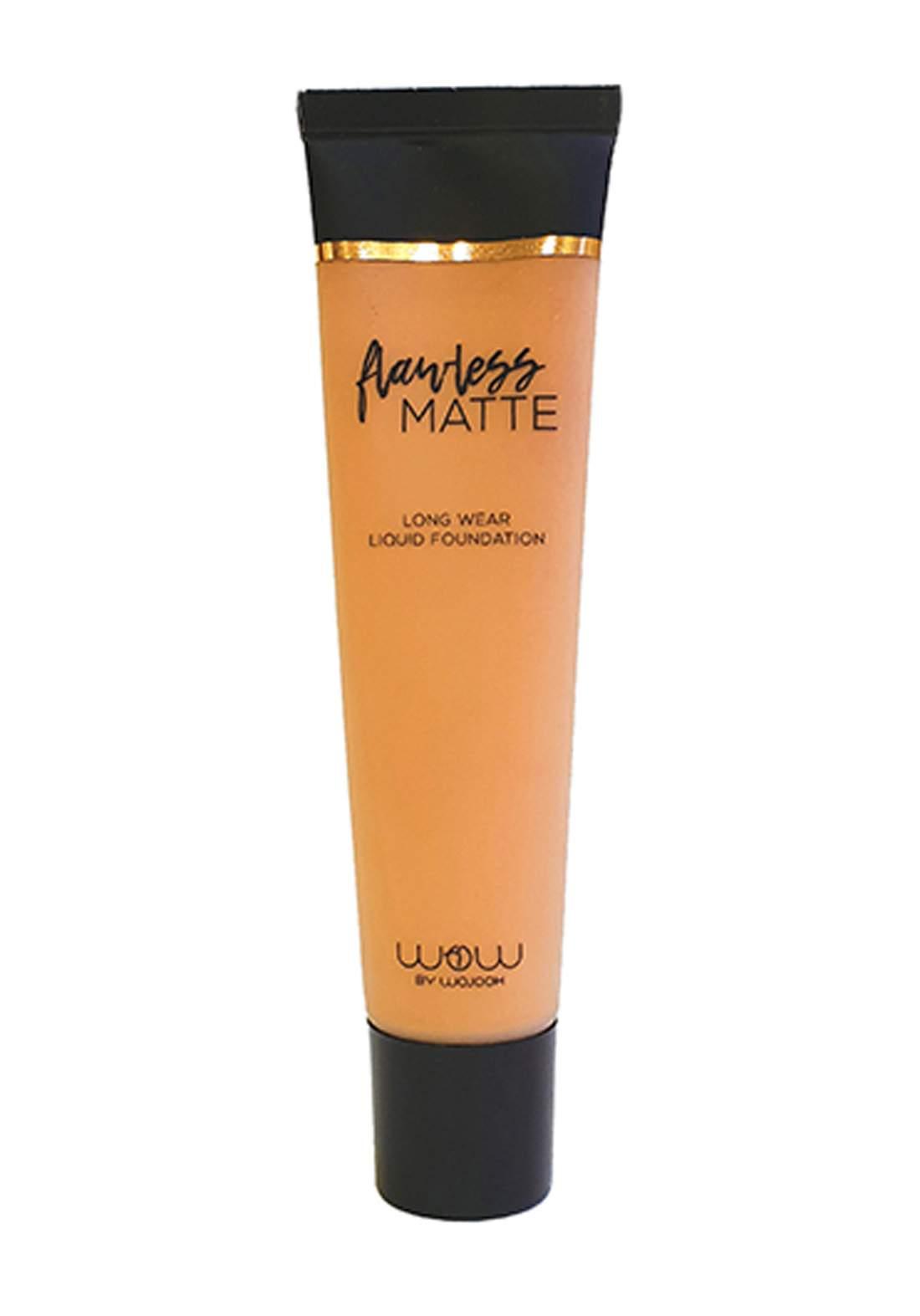 Wow Beauty Forward 2319 Flawless Matte Liquid Foundation No.Y120 Classic Caramel 30ml كريم اساس
