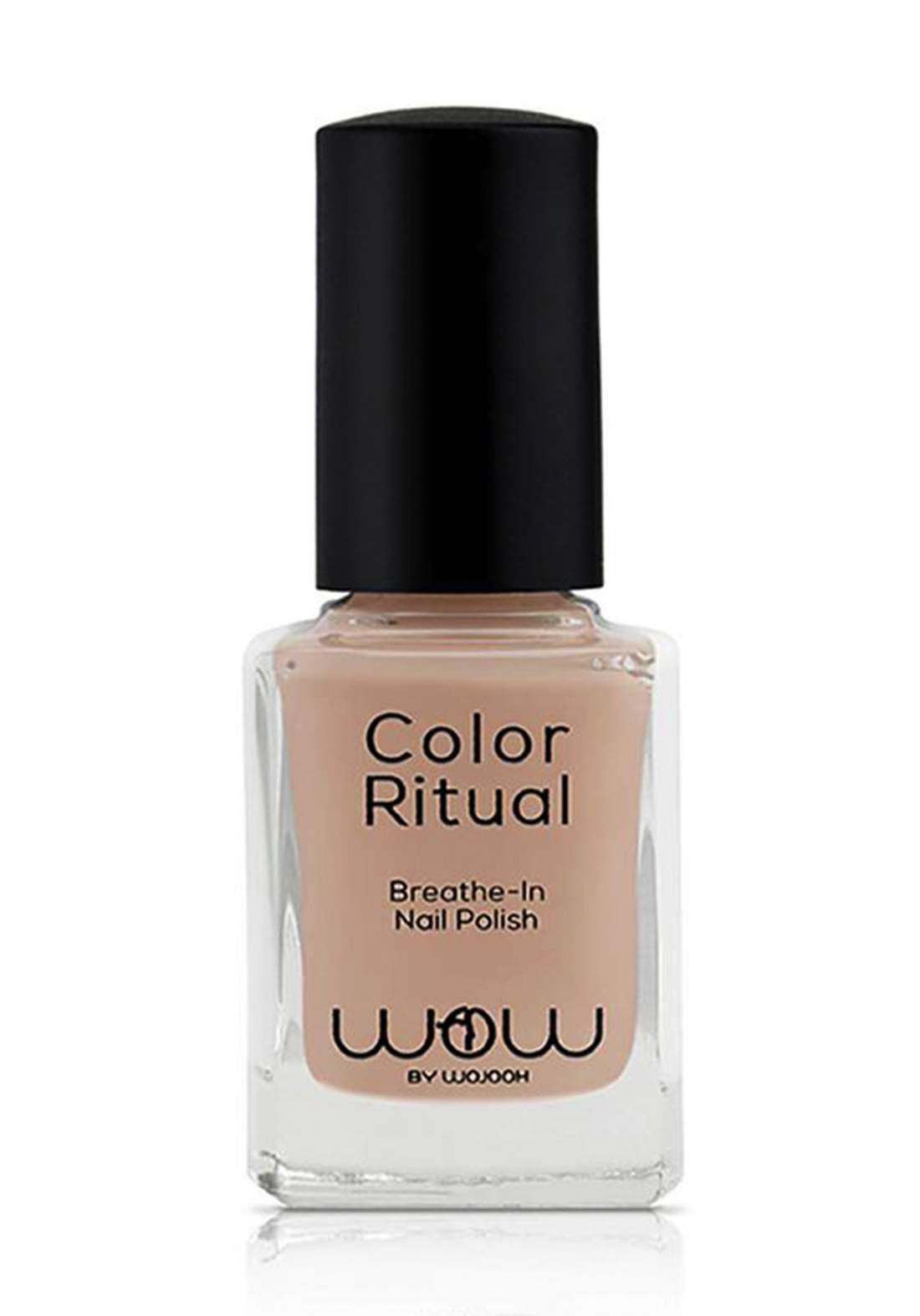 Wow By Wojooh 802 Launches Colour Ritual Breathe In Nail Polish No.132 Raw Sugar 11ml طلاء اظافر