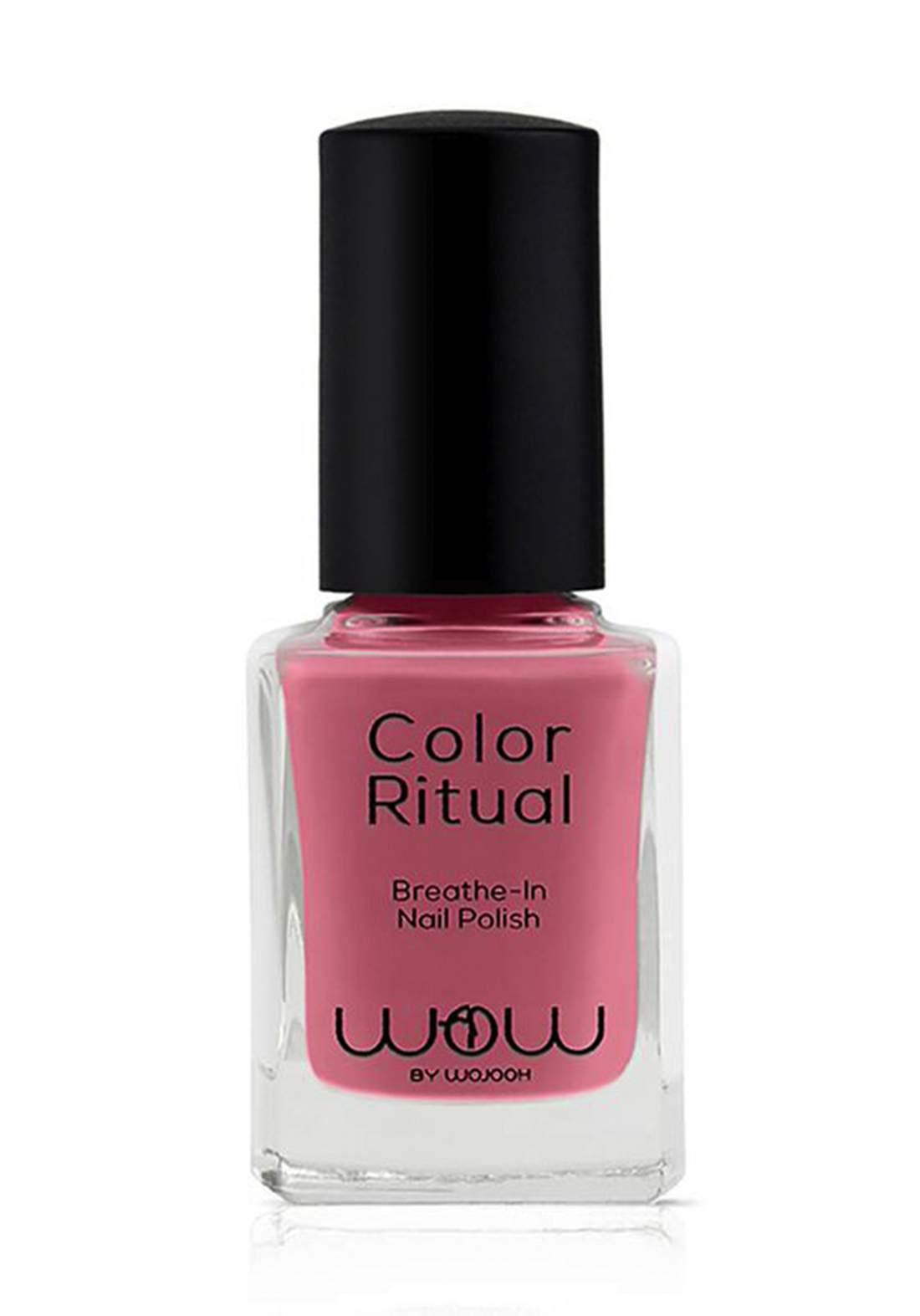 Wow By Wojooh 803 Launches Colour Ritual Breathe In Nail Polish No.532 Pink Dust 11ml طلاء اظافر
