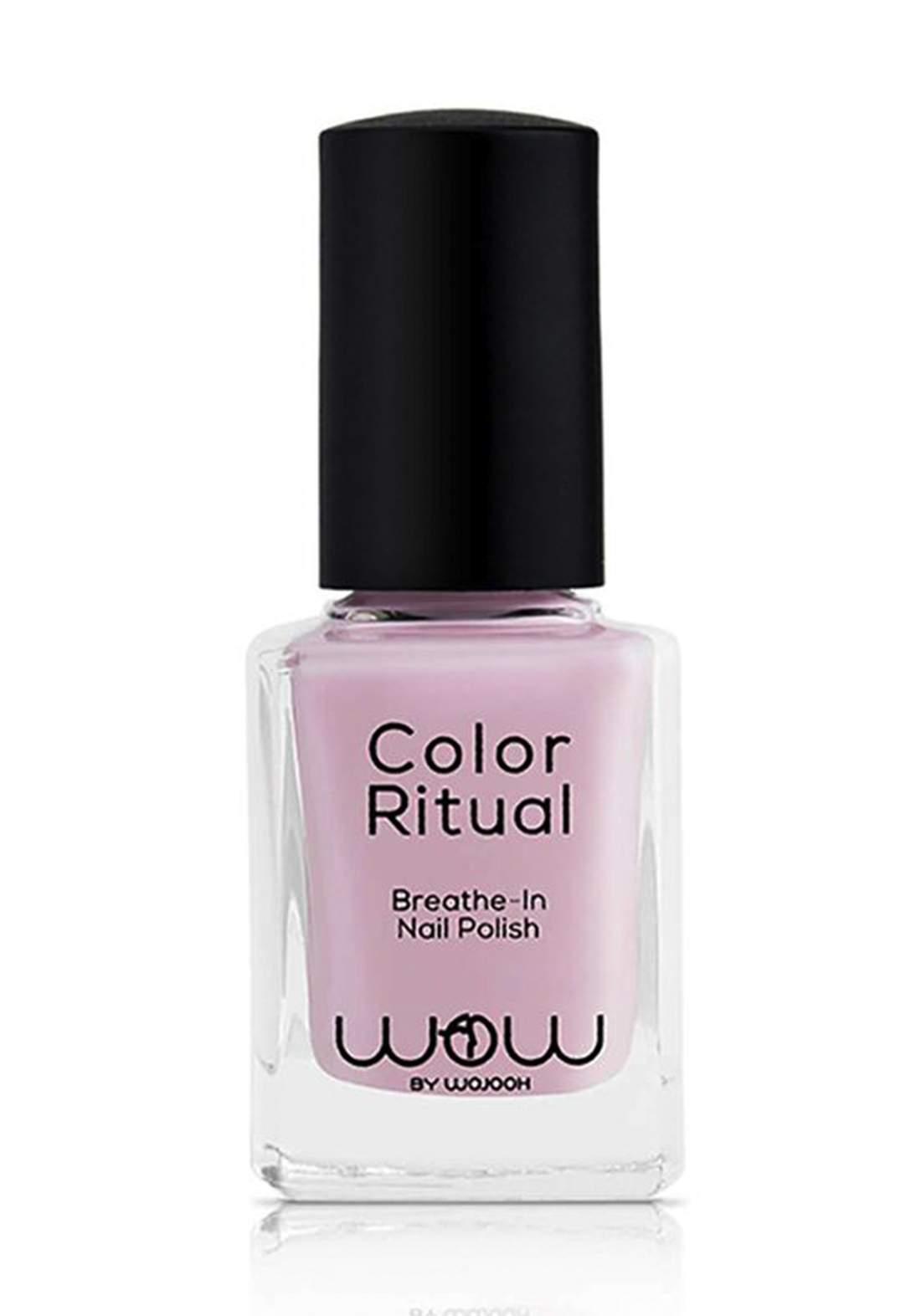 Wow By Wojooh 801 Launches Colour Ritual Breathe In Nail Polish No.512 Bubbly Bassmah 11ml طلاء اظافر