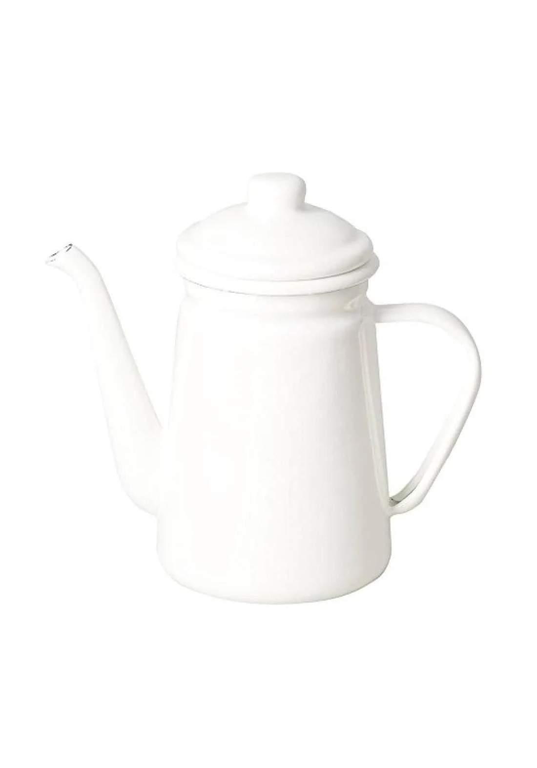 Pearl Metal HB-3681 Coffee drip pot 1.1L enamel blanc kitchen white دلة قهوة