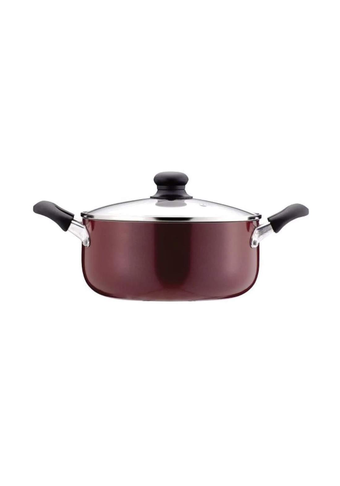 Pearl Metal H-2095  Both hands stewed pot 24cm with glass pot  قدر طعام