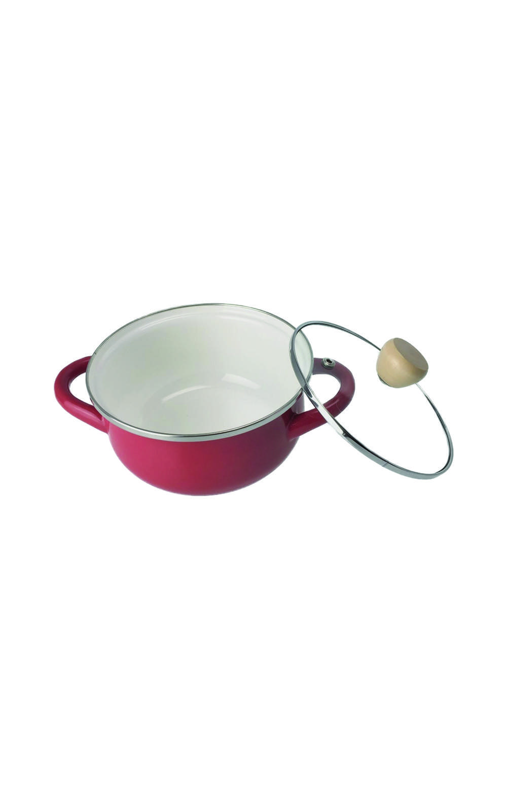 Enamel  HB-4894  two-handed pan 15cm Red قدر