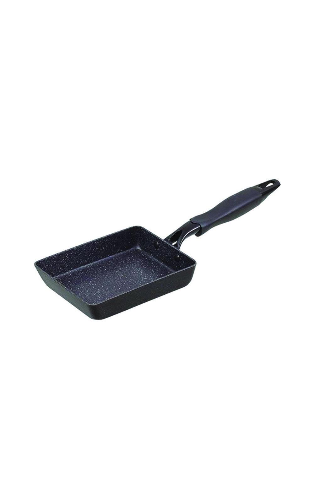 Pearl Metal HB-3888 Marble Fan Teflon Select Processing 13 × 18cm-Black مقلاة مربعة الشكل