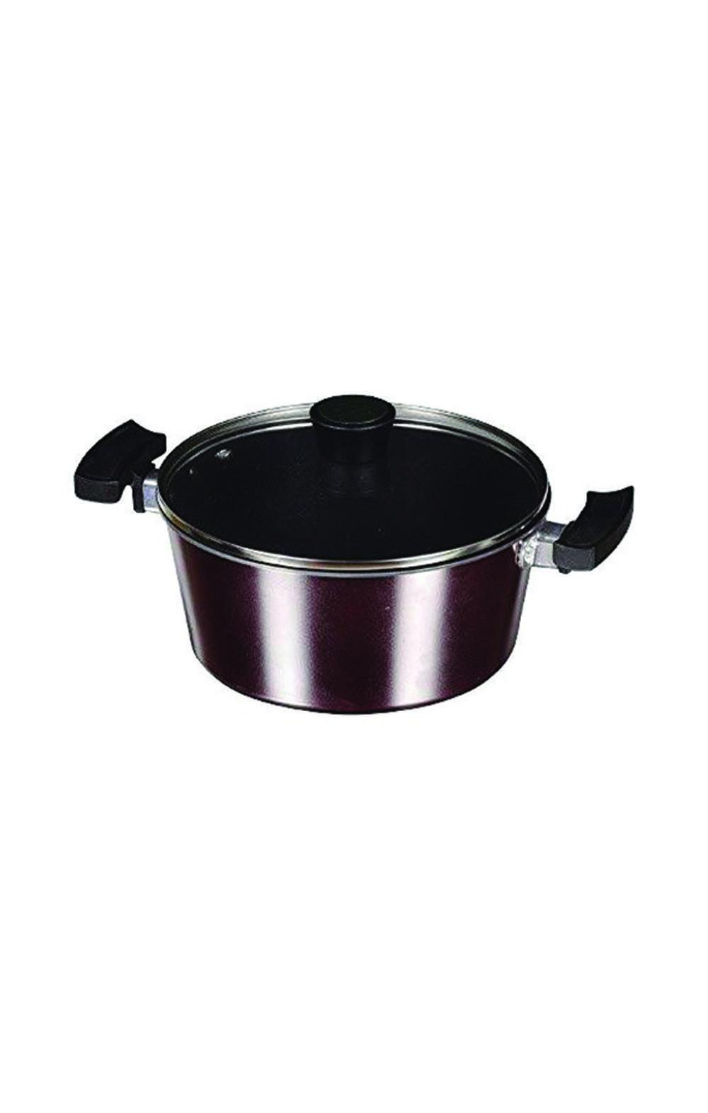 Pearl MetalHB-1236 Two-handed pan 22cm glass pan  قدر مع غطاء بايركس