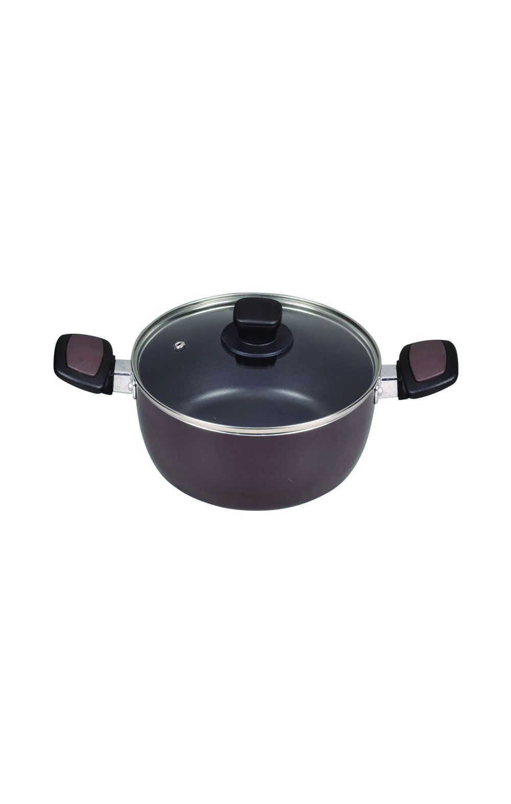 Pearl Metal HB-1669 Two-Handed Pot 20 cm قدر مع غطاء بايركس