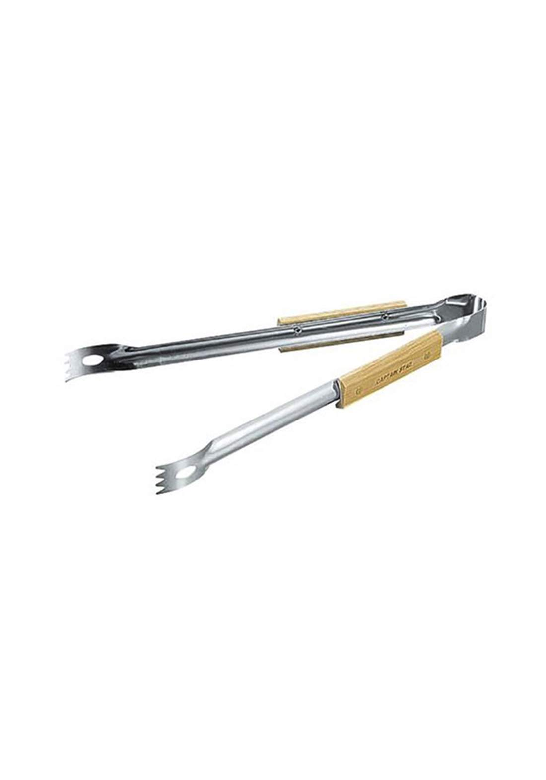 Captain Stag M-9090 Clark Wooden Pattern Barbecue Tongs ملقط شواء