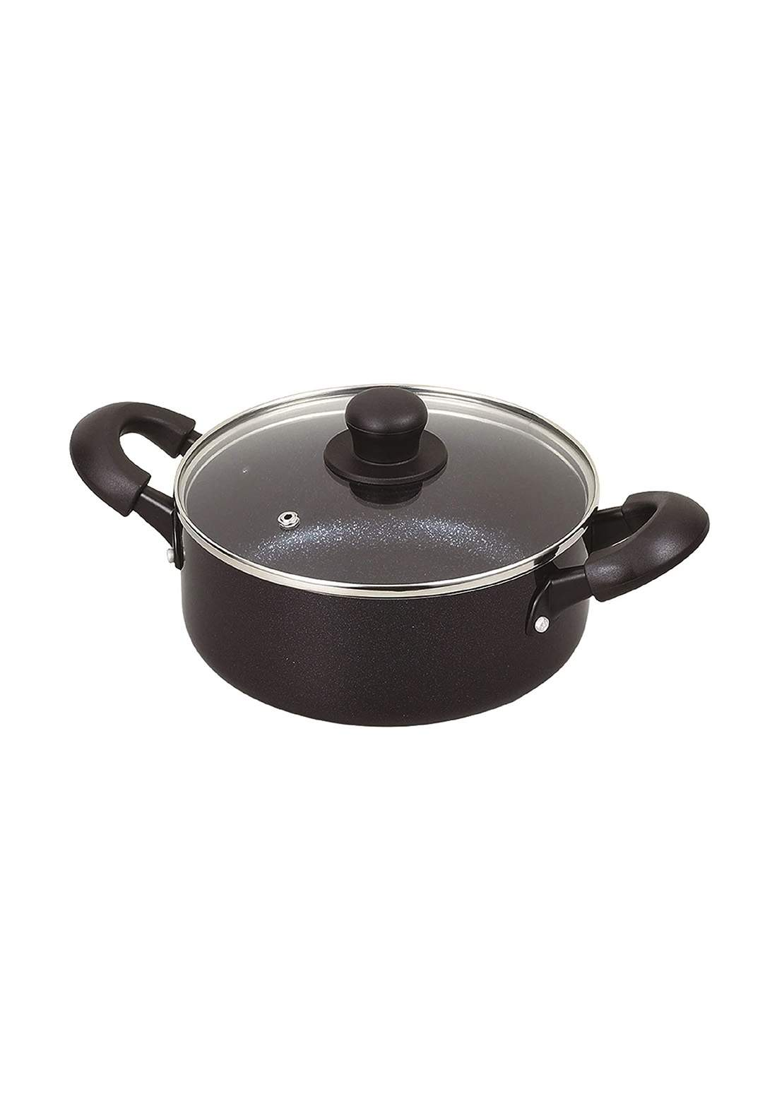 Pearl Metal HB-5118 Two-Handed Pot with Glass Lid   20 cm قدر