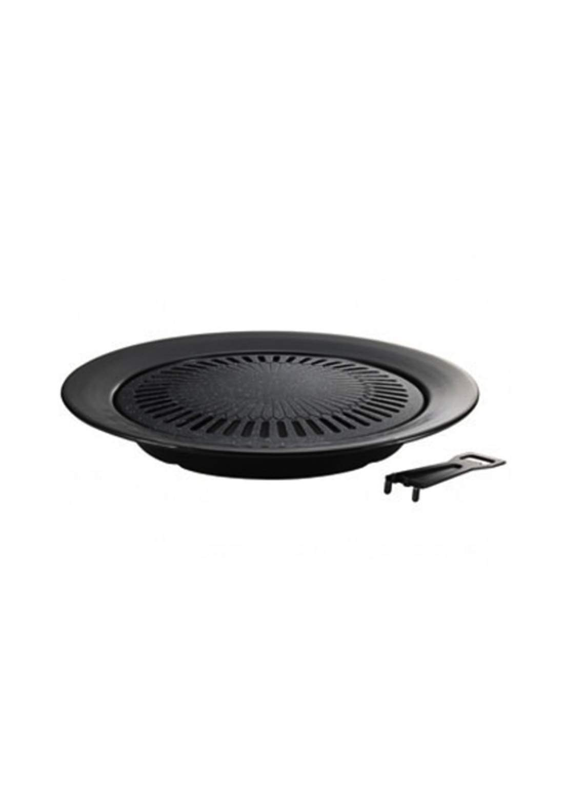 Pearl Metal H-4059 Strong Marble 4-Layer Round Grilled Meat Grill صينية شواء