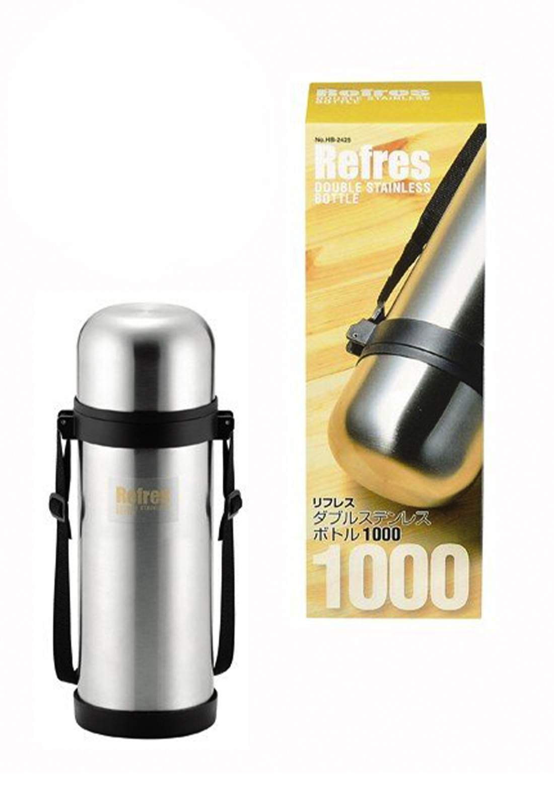 Pearl Metal HB-2425 Refres Wide Mouth Double Stainless Bottle 1000 ml ترمس حراري