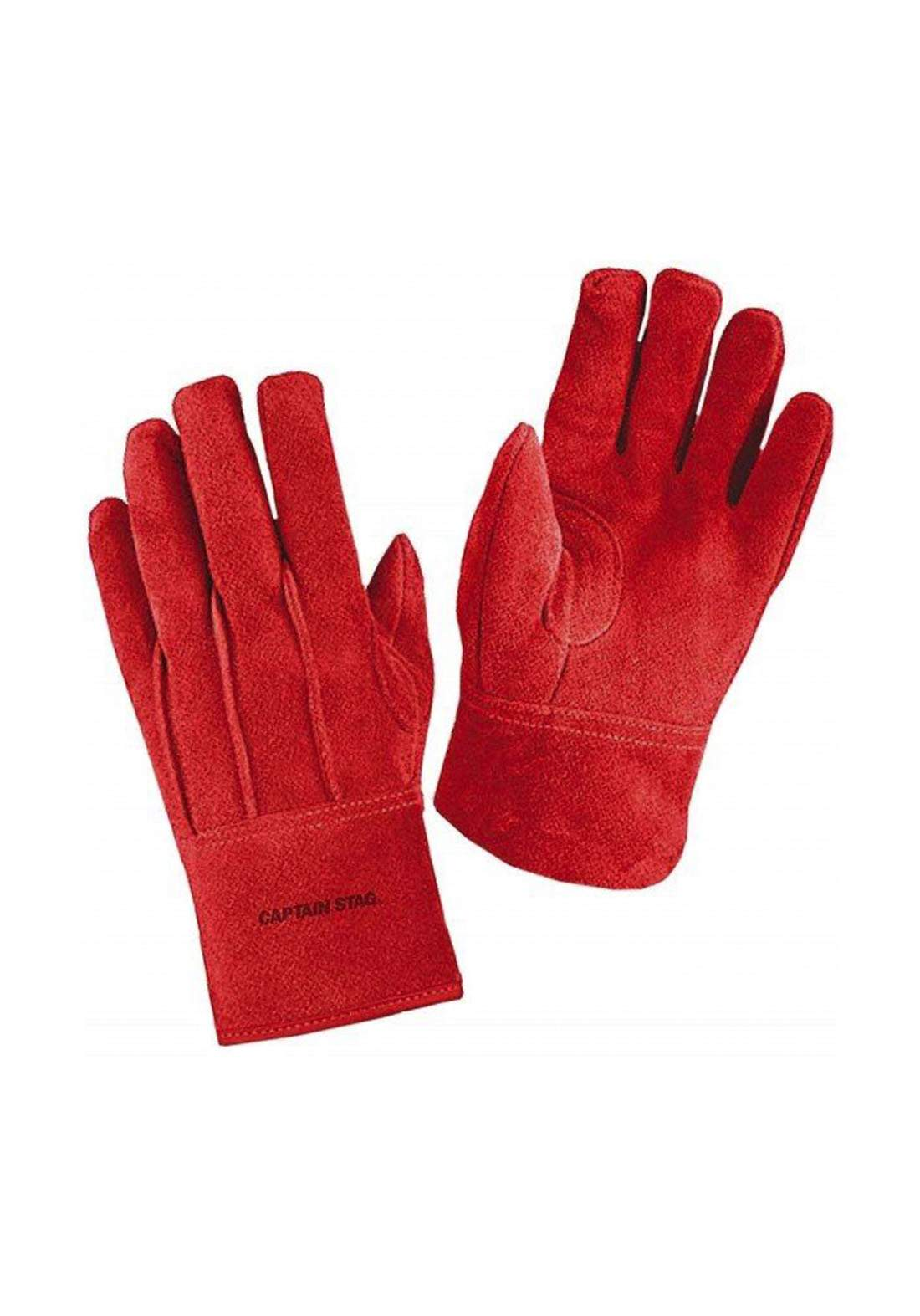 Captain Stag  UM-1909 Outdoor Camping Leather Gloves Heat-Resistant Gloves  قفازات جلدية مقاومة للحرارة