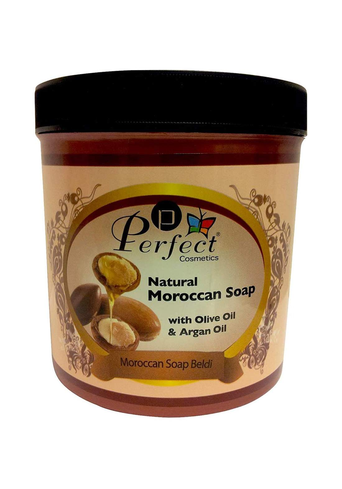 Perfect Cosmetics Moroccan Soap with Natural Olive and Argan Oil  1000ml صابون مغربي