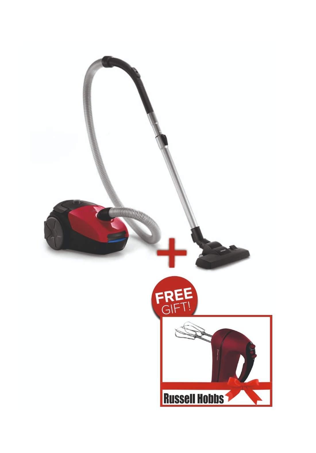 philips مكنسة كهربائية مع كيس +Gift Russell Hobbs RH18966 خفاقة يدوية