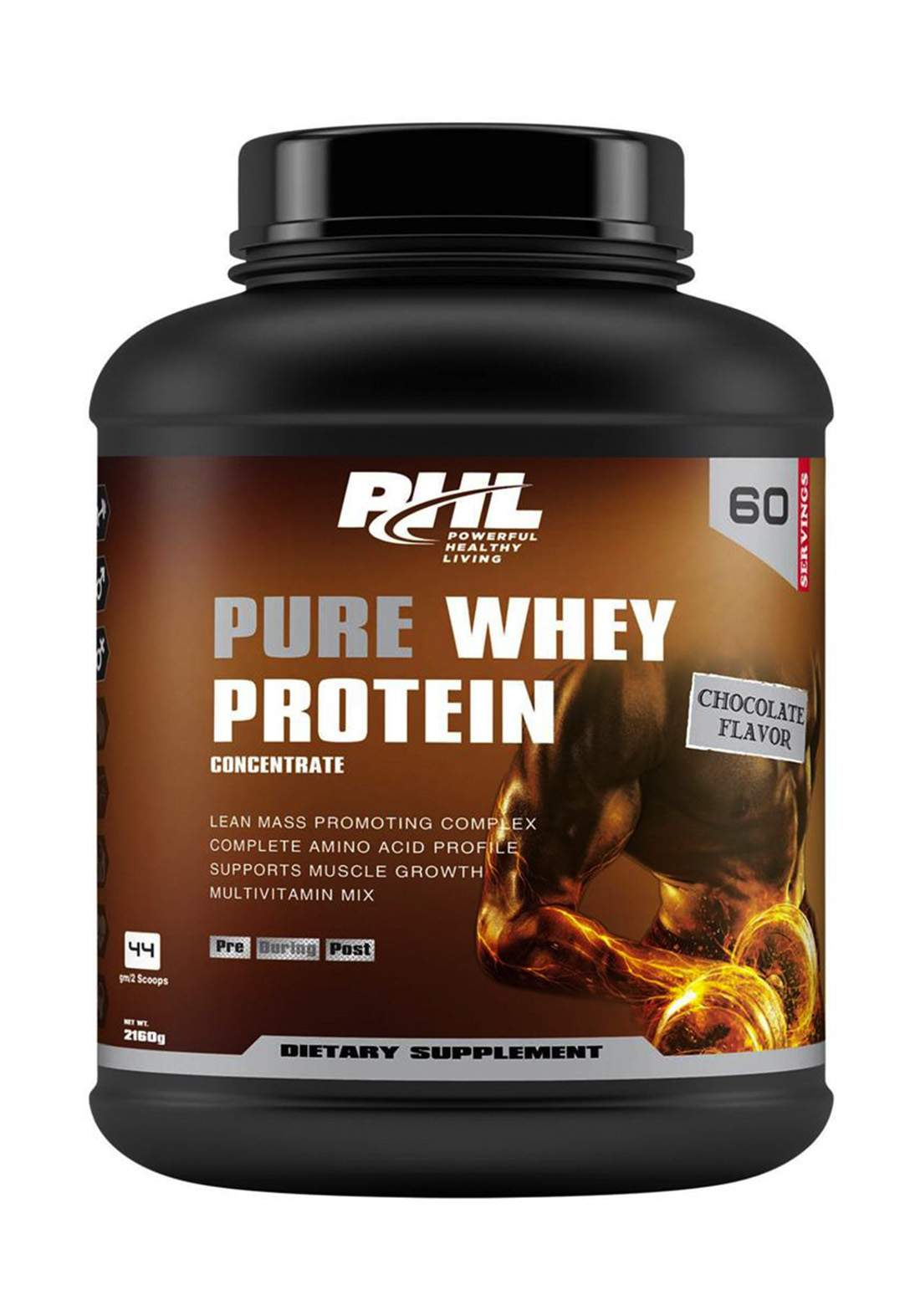 Phl Pure Whey Protein Chocolate 60 Servings 2160 g بروتين مكمل غذائي