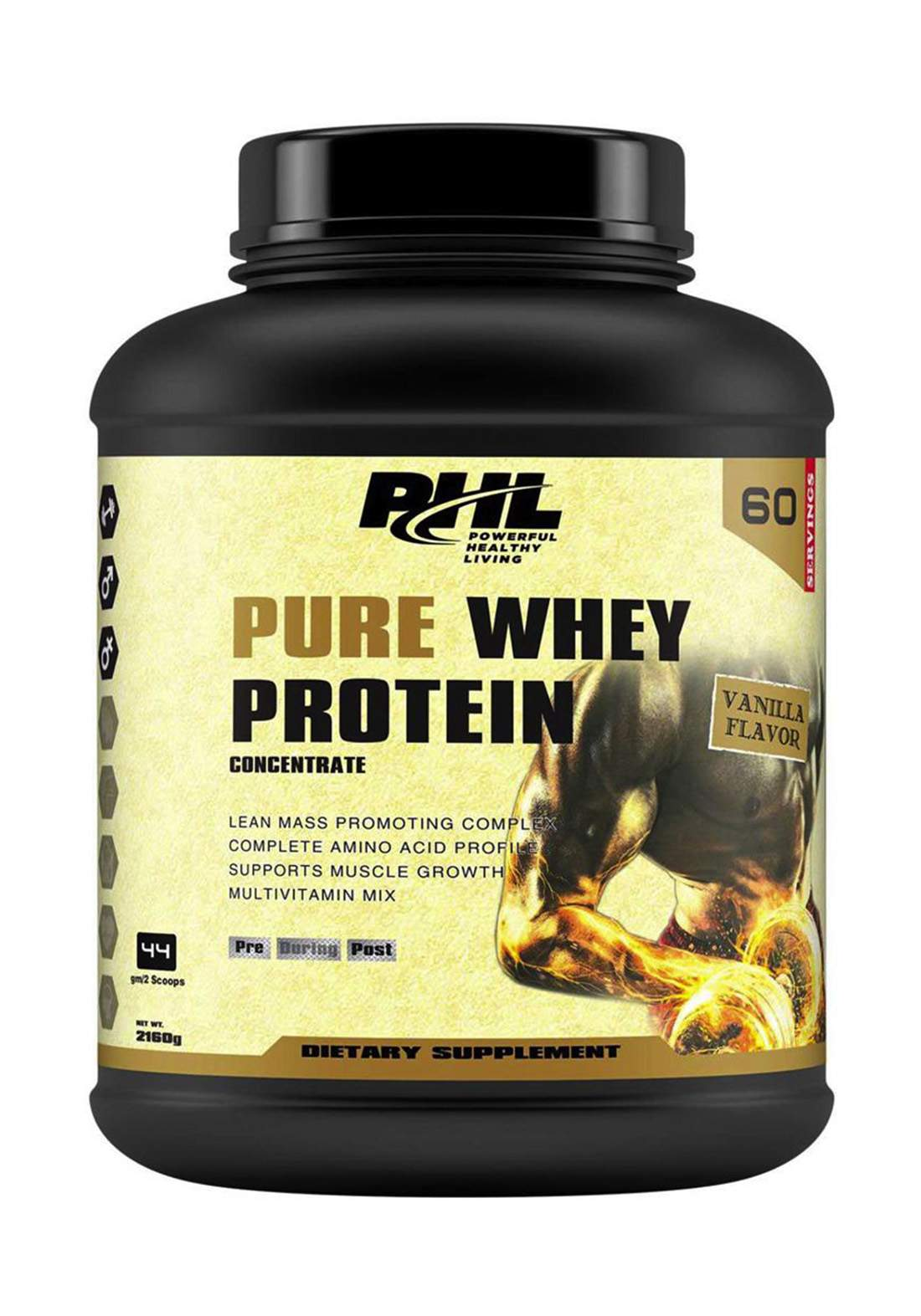 Phl Pure Whey Protein Vanilla  60 Servings 2160 g بروتين مكمل غذائي