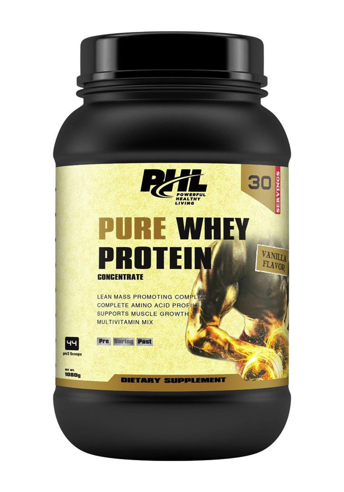 Phl Pure Whey Protein Vanilla  30 Servings 1080 g بروتين مكمل غذائي