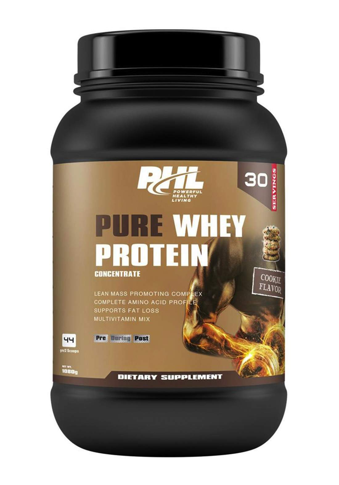 Phl Pure Whey Protein Cookie  30 Servings 1080 g بروتين مكمل غذائي