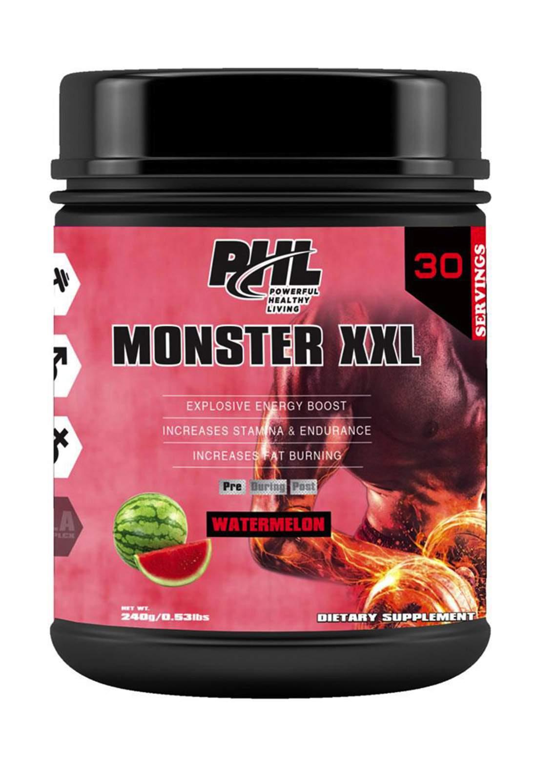 PHL Pre Workout (Monster XXL) PWD watermelon  30 Servings 240 g  مكمل غذائي