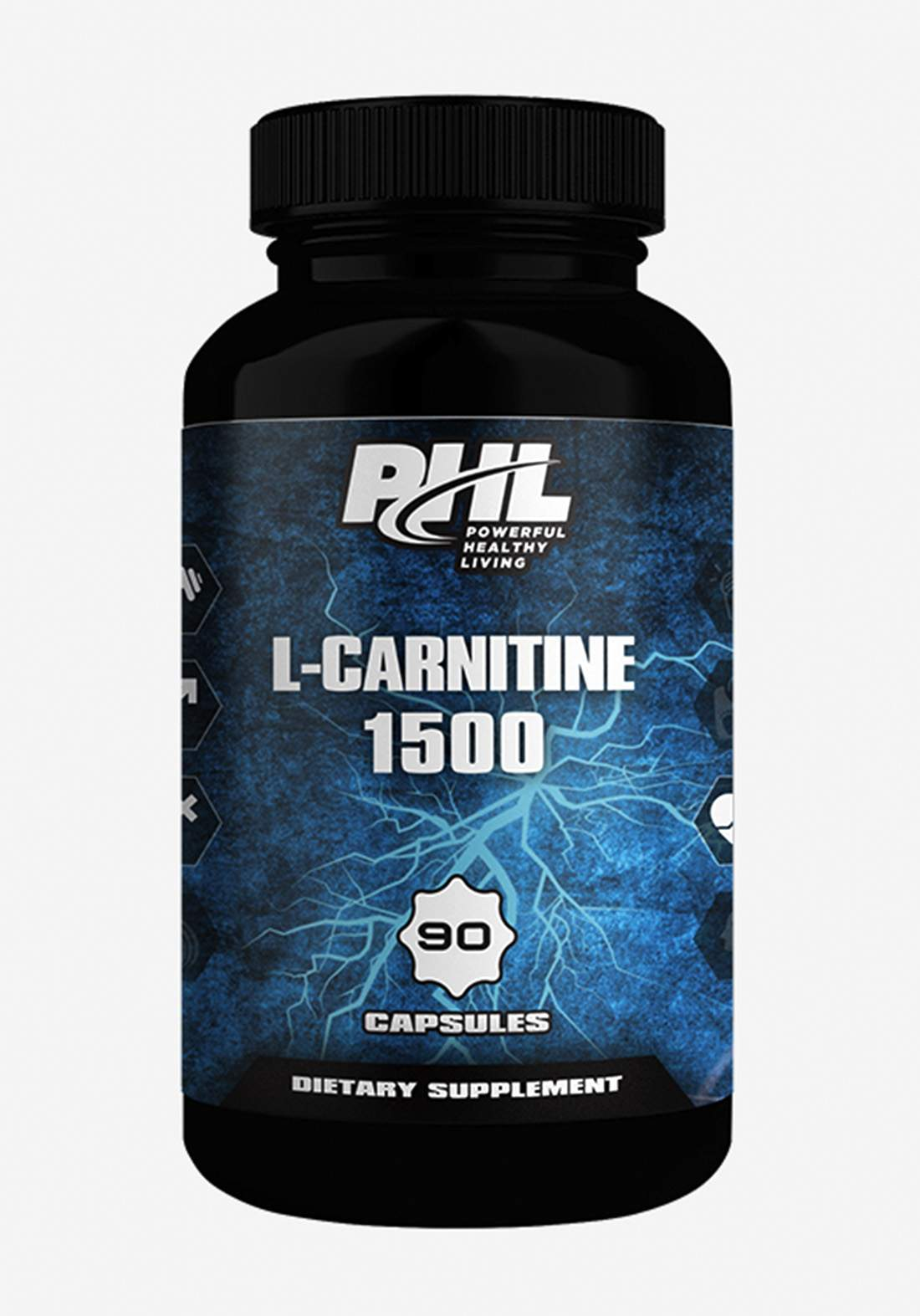 PHL L-Carnitine 1500 90 Capsules مكمل غذائي
