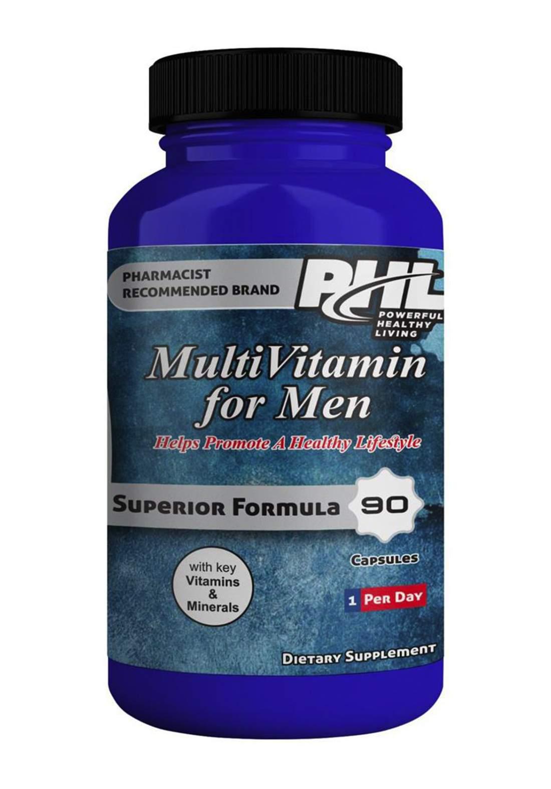 PHL Multivitamin for men 90 capsules فيتامينات متعددة  للرجال