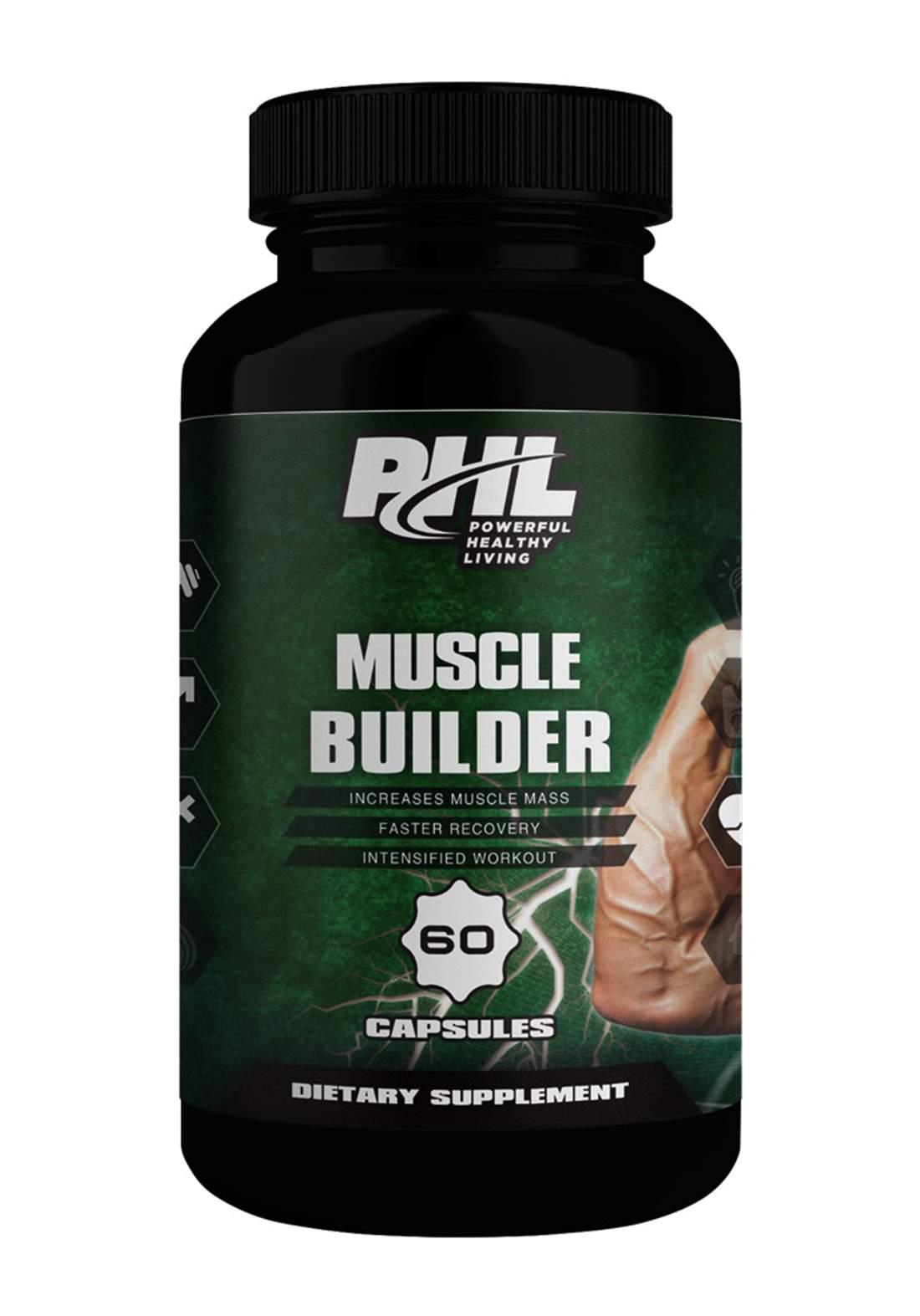 PHL Muscle Builder 60 Capsules مكمل غذائي
