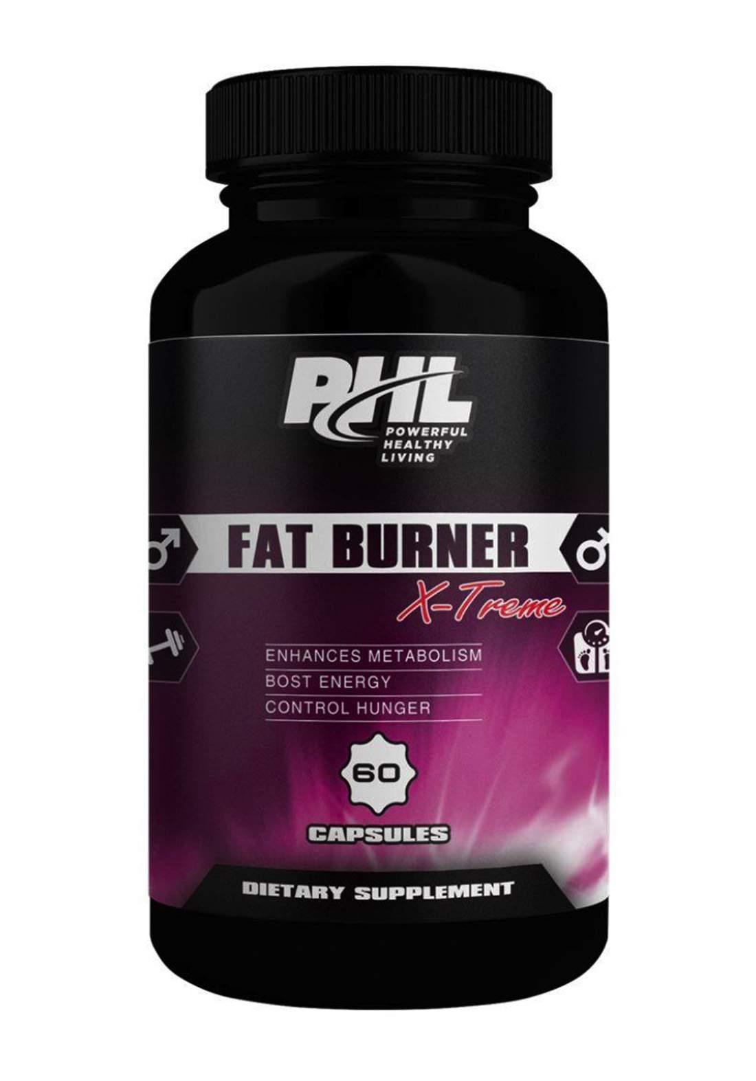 PHL Fat Burner 60 Capsules كبسولات حرق الدهون