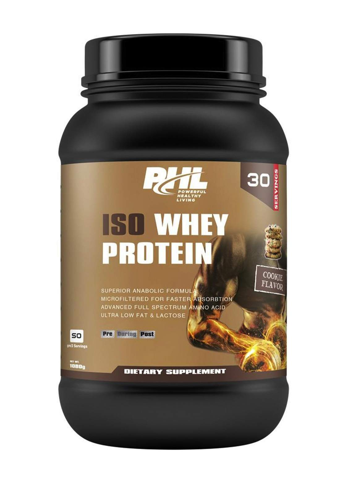 PHL Iso Whey Protein Cookie 1080 g 30 servings مسحوق بروتين