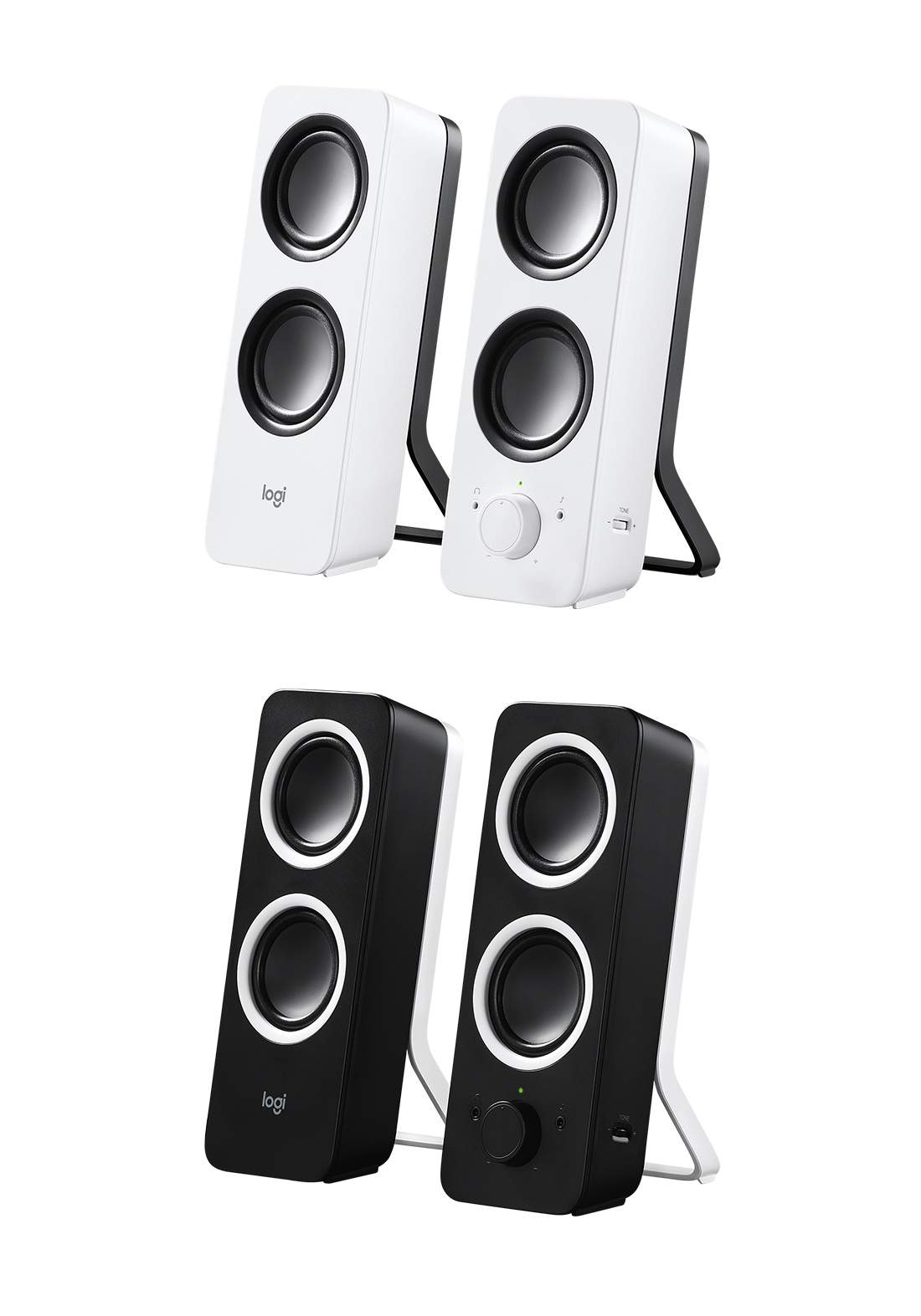 Logitech Z200 Multimedia Speakers with Stereo Sound for Multiple Devices  سبيكر