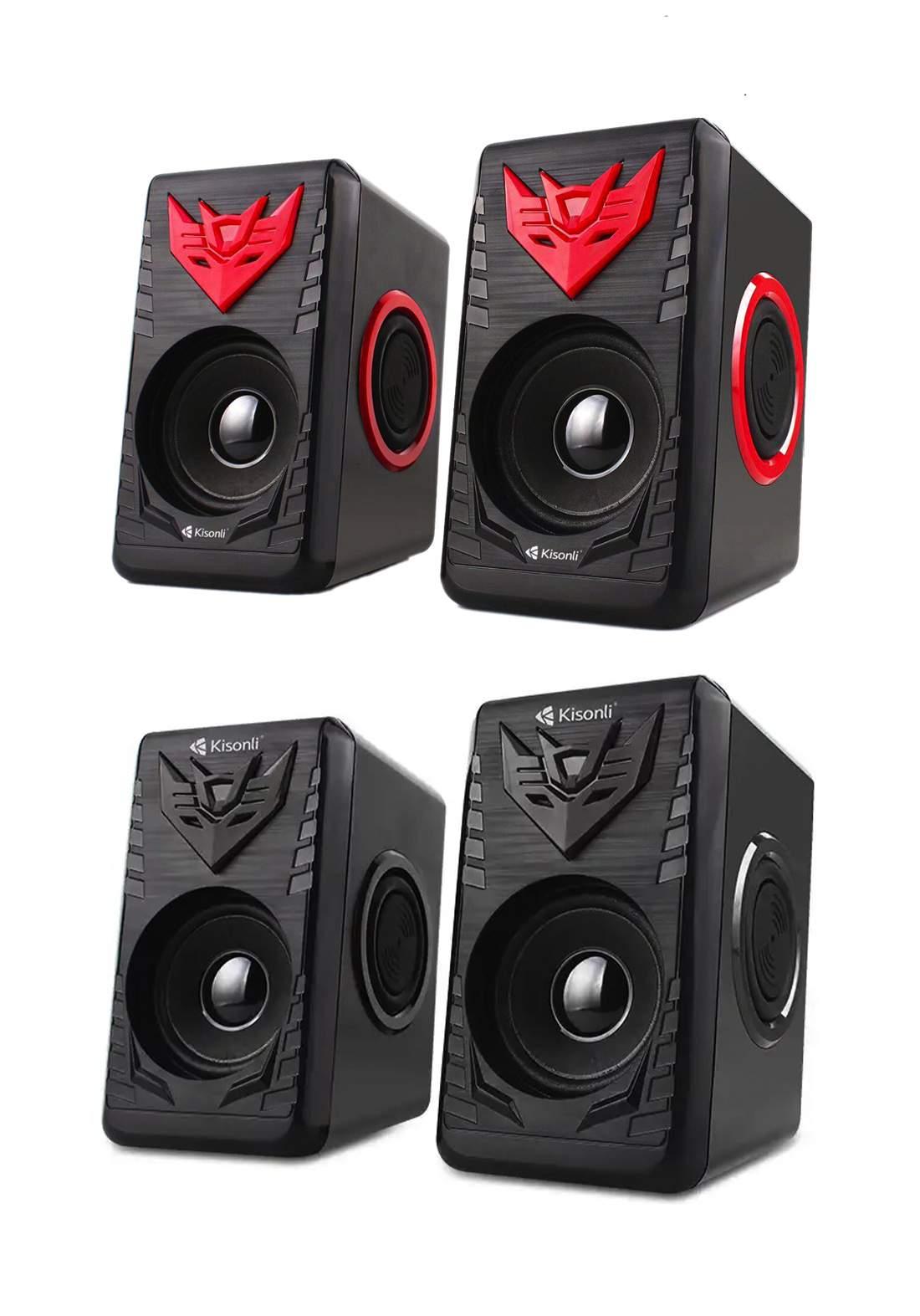 Kisonli T-008A Usb Super Bass 2.0 Speaker سبيكر