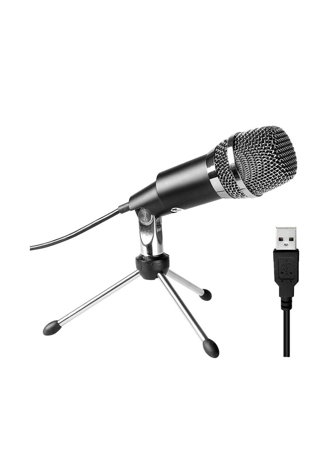 Fifine K668 USB Condenser Microphone - Black مايكروفون
